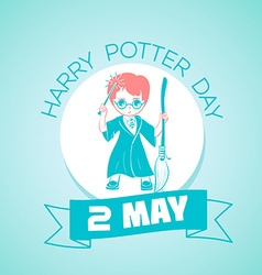 2 may Harry Potter Day vector image vector image