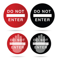 do not enter sign in red and black color vector image