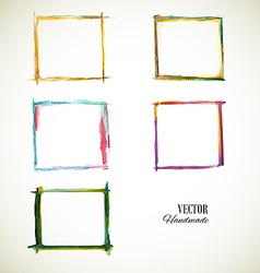 Frame Set Watercolor vector image