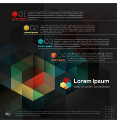 Geometric Abstract Design Layout vector image
