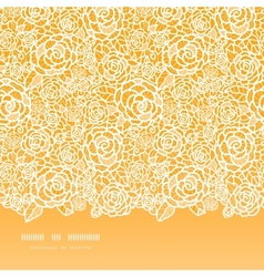 Golden lace roses horizontal seamless pattern vector image