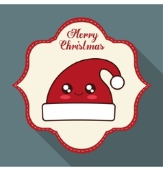 Kawaii hat of christmas season vector