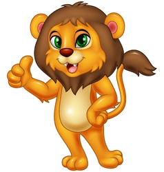 Lion giving thumbs up vector image vector image
