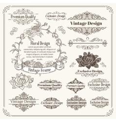 Vintage Design Elements Collection vector image vector image