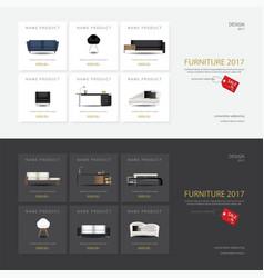 2 banner furniture sale design template vector image