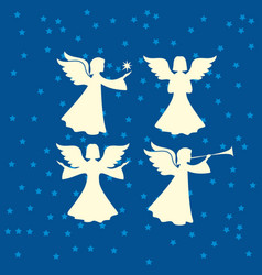 A set of angels vector