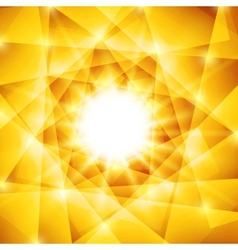 Abstract geometric background with yellow vector image
