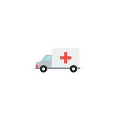 ambulance icon flat element vector image