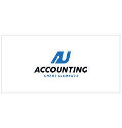 Au accounting financial logo vector