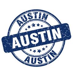 Austin blue grunge round vintage rubber stamp vector