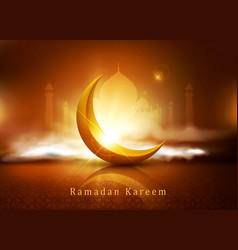 background for ramadan holiday with clouds vector image
