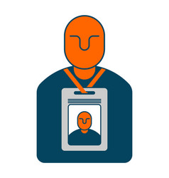 Badge isolated pass an employee on white vector