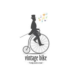 bicycle emblem vector image