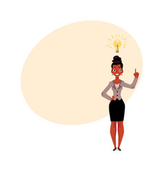 black african american businesswoman having idea vector image