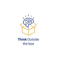 brain and open box creativity improvement vector image