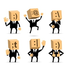 Businessman in different positions vector