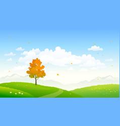 Cartoon autumn nature vector