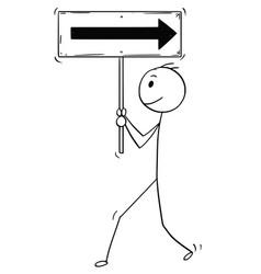 Cartoon of businessman walking forward and vector