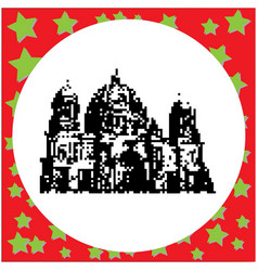 cathedral in berlin or berliner dom in germany vector image vector image