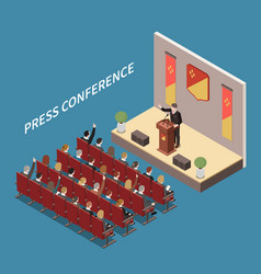 Conference hall isometric composition vector