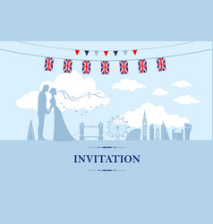 couple in london vector image