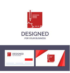 Creative business card and logo template contract vector