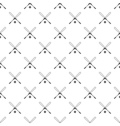 Crossed baseball bats and ball pattern vector