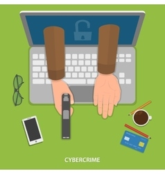 Cybercrime flat concept vector image