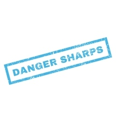Danger Sharps Rubber Stamp vector