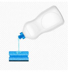 dishwashing detergent sponge composition vector image