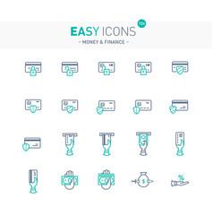 Easy icons 12e money vector