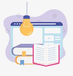 ebook web idea school education online image vector image