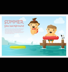 Enjoy tropical summer holiday background 3 vector