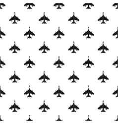 Fighter jet plane pattern simple style vector image