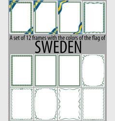 Flag v12 sweden vector