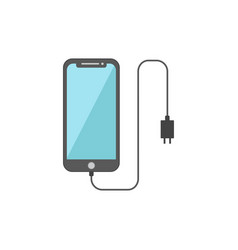 Flat design smart phone charging vector
