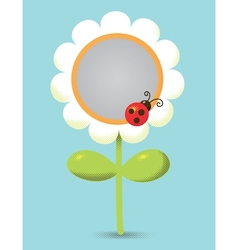 Flower-frame vector image