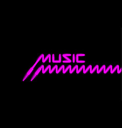 fluorescent trans music banner vector image