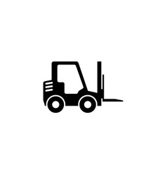 Forklift delivery truck flat icon vector