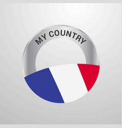 france my country flag badge vector image