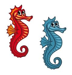 Funny seahorse vector image