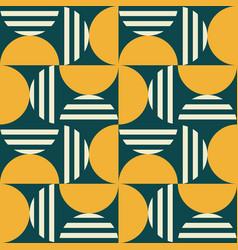 geometric mid-century modern pattern vector image