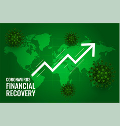 Global financial recovery market after vector