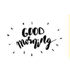 Good morning inspirational quote vector