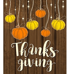 Greeting card for Thanksgiving Day vector image