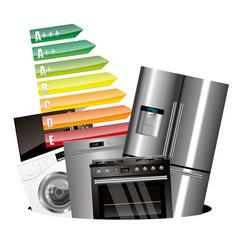Home appliances consumption vector