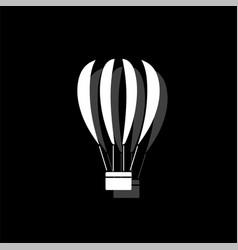 hot air balloon icon flat vector image