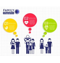 Infographics design with family vector