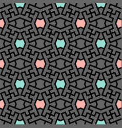 Iranian color mix pattern seamless vector