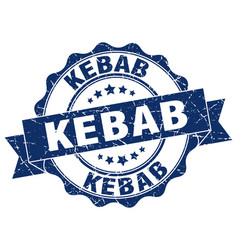 Kebab stamp sign seal vector